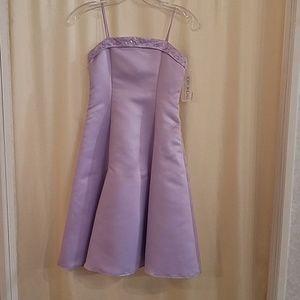 NWT short Jr Bridesmaid  Dress Lilac Size 6